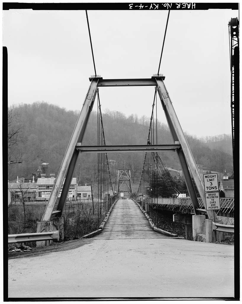 Boldman Bridge, Spanning Levisa Fork, Pikeville, Pike County, KY