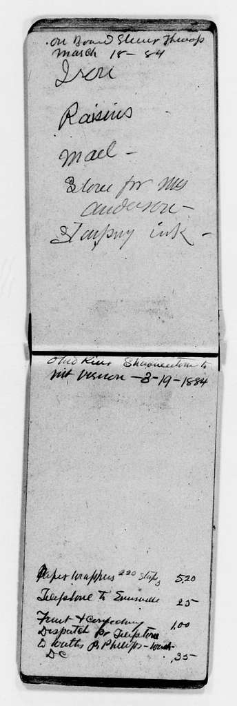 Clara Barton Papers: Red Cross File, 1863-1957; American National Red Cross, 1878-1957; Relief operations; Mississippi and Ohio river valleys; Accounts, receipts, and supplies; 1884, Mar.-June, undated