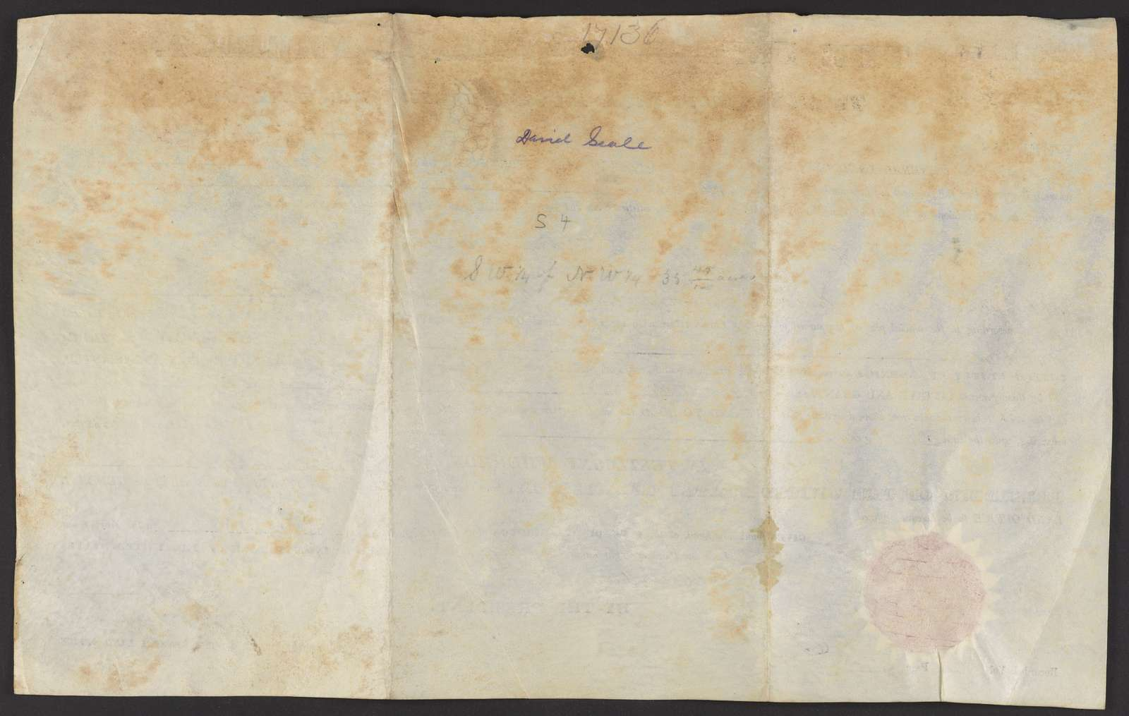 Deeds for land in Alabama, 1833-1834