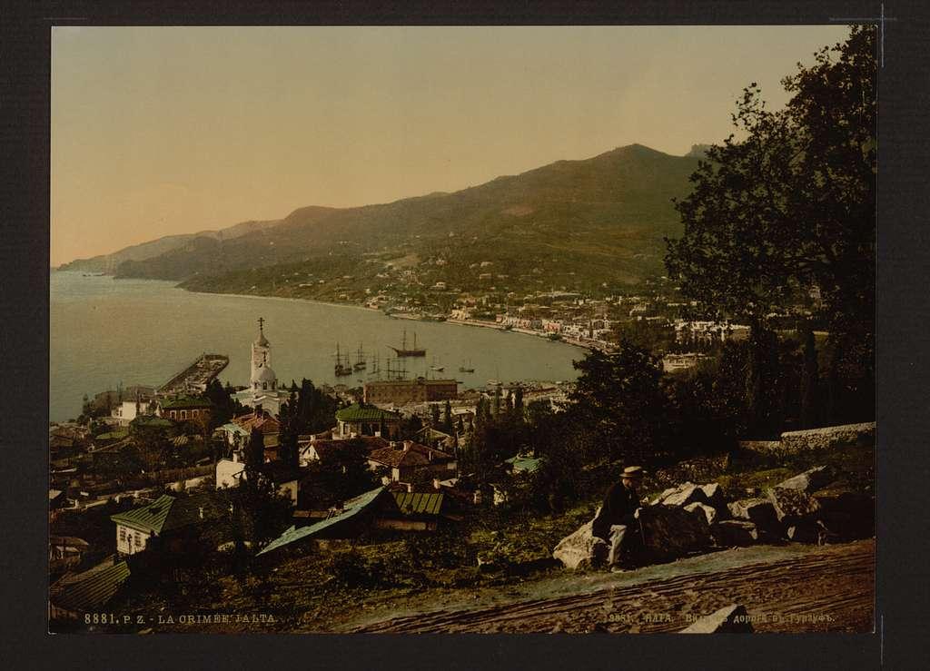 [From the Gursuff (i.e., Gurzuf), Road, Jalta, (i.e., Yalta), the Crimea, Russia, (i.e., Ukraine)]