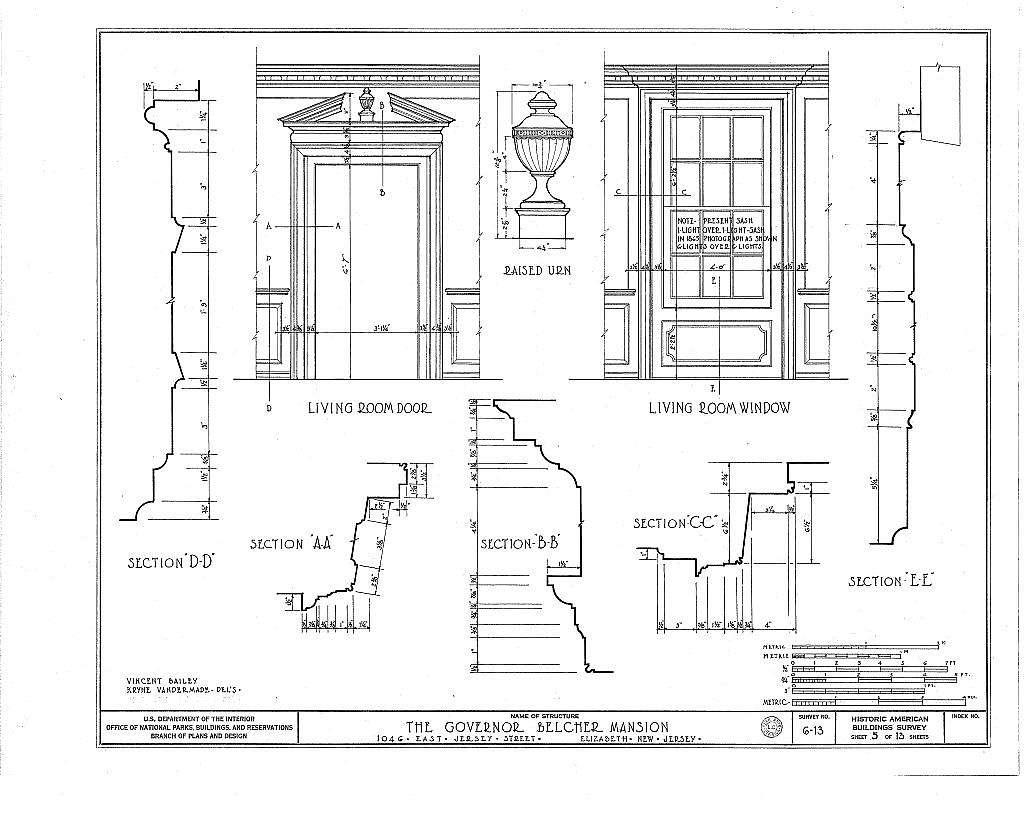 Governor Belcher Mansion, 1046 East Jersey Street, Elizabeth, Union County, NJ