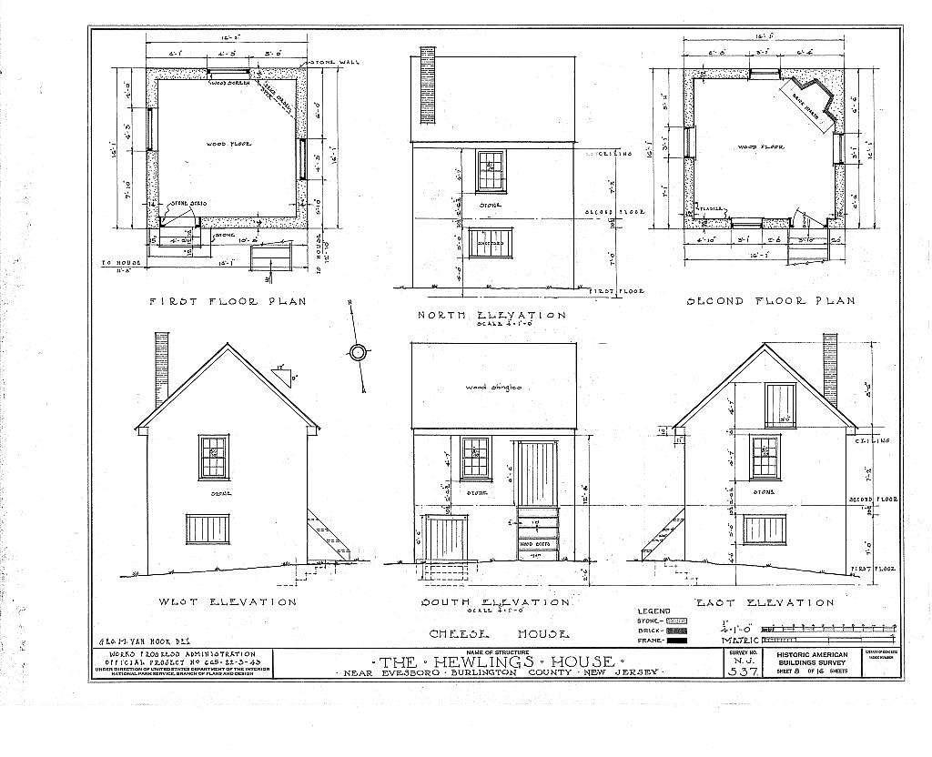Hewlings House, Mt. Laurel Road, Evesboro, Burlington County, NJ
