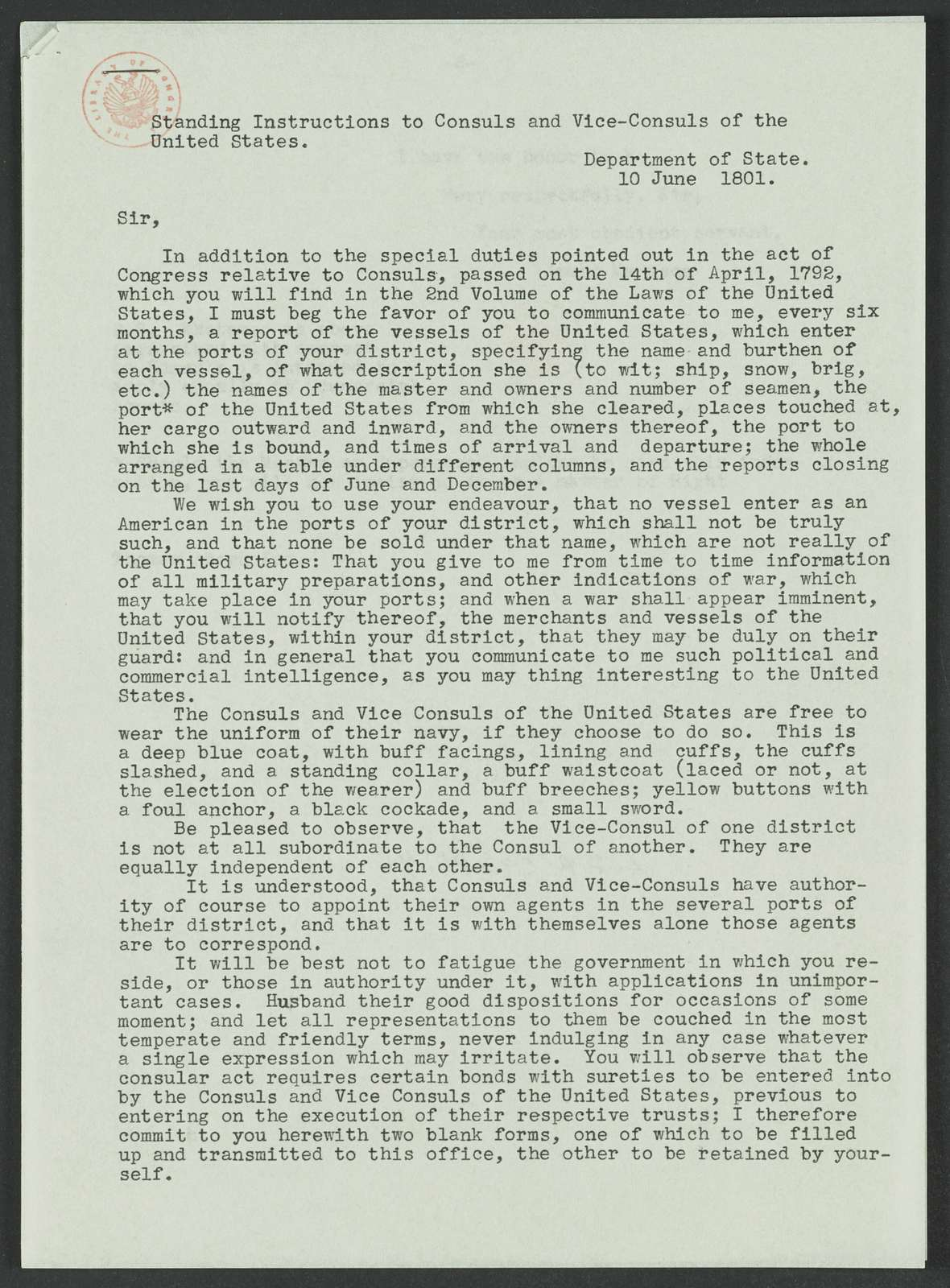 James Madison Papers: Series 7, Addenda, 1744-1845; 1979-1985 Addition; Part B, copies and abstracts; Photocopies; General correspondence, 1784-1830