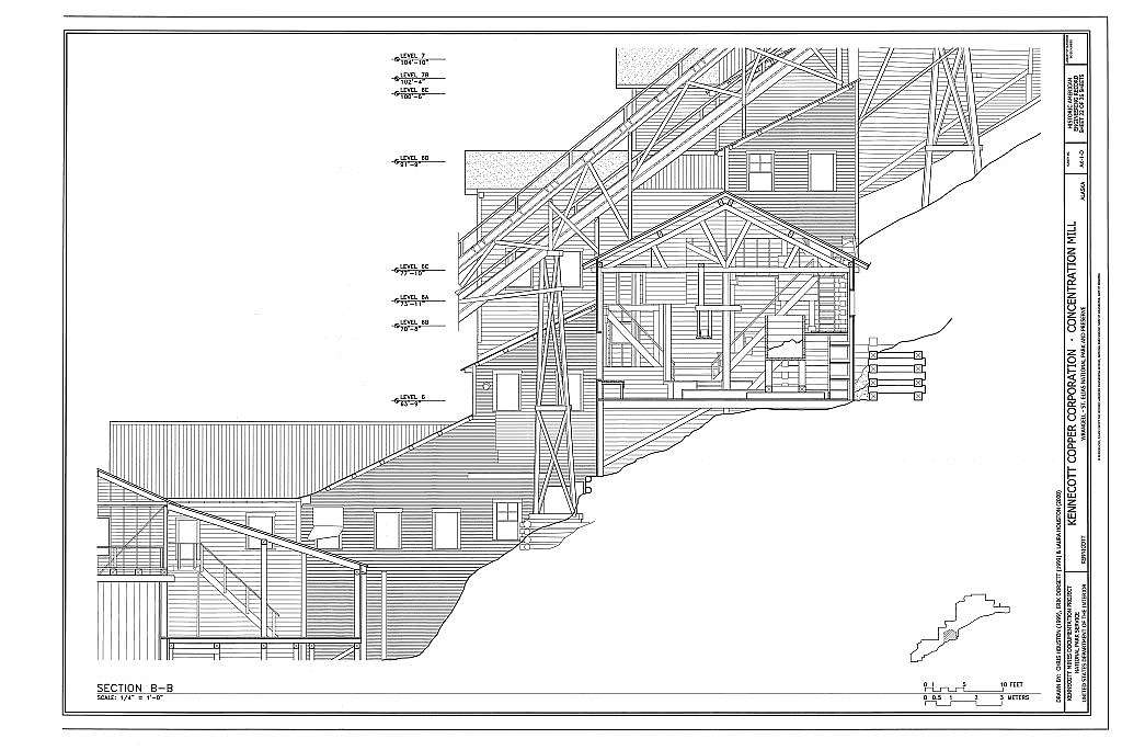 Kennecott Copper Corporation, Concentration Mill, On Copper River & Northwestern Railroad, Kennicott, Valdez-Cordova Census Area, AK