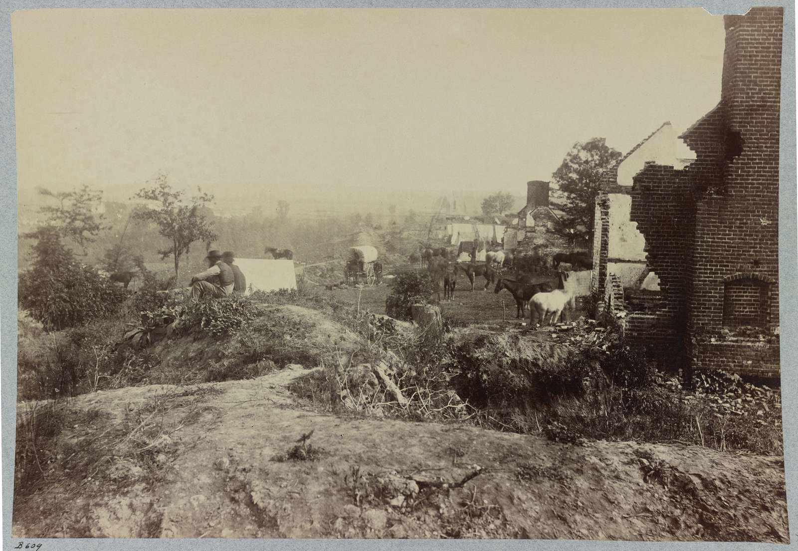 Marye's Heights, Fredericksburg, Va., Confederate fortifications