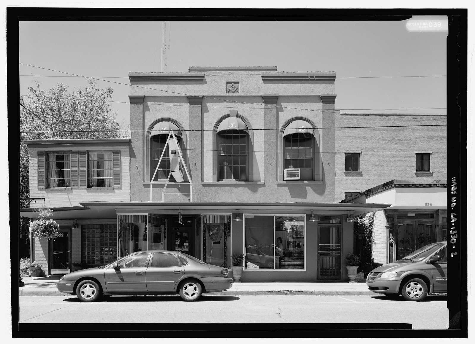 Masonic Lodge, 622 Second Street, Natchitoches, Natchitoches Parish, LA