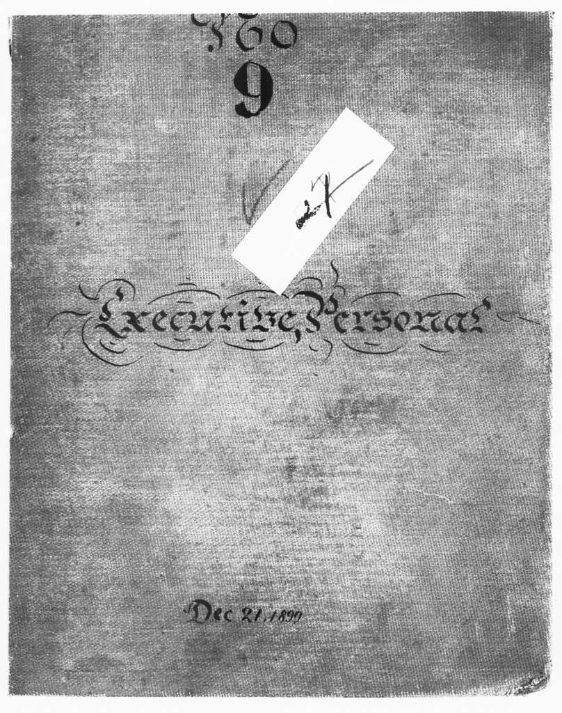 Theodore Roosevelt Papers: Series 2: Letterpress Copybooks, 1897-1916; Vol. 21, 1899, Dec. 21-1900, Jan. 31