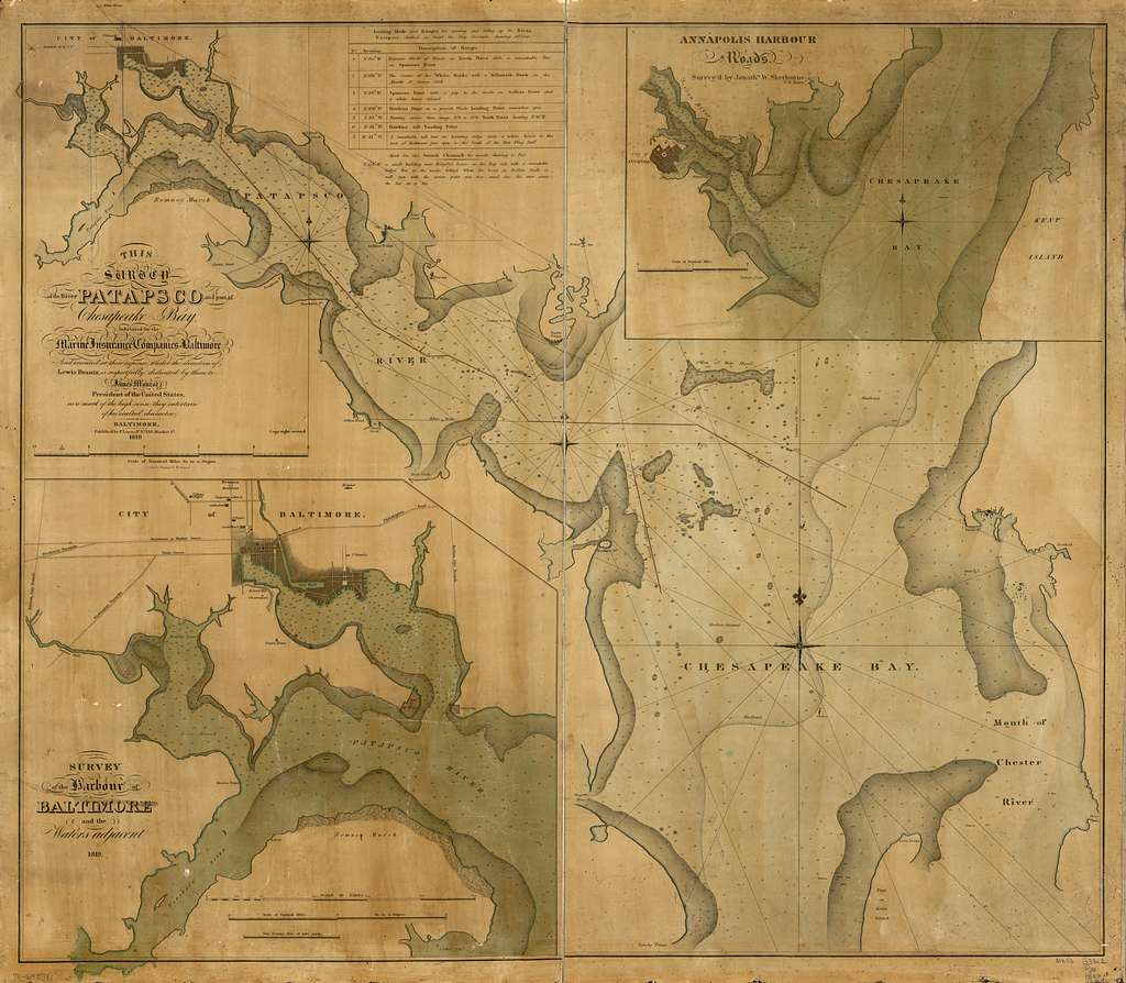 This survey of the River Patapsco and part of Chesapeake Bay,
