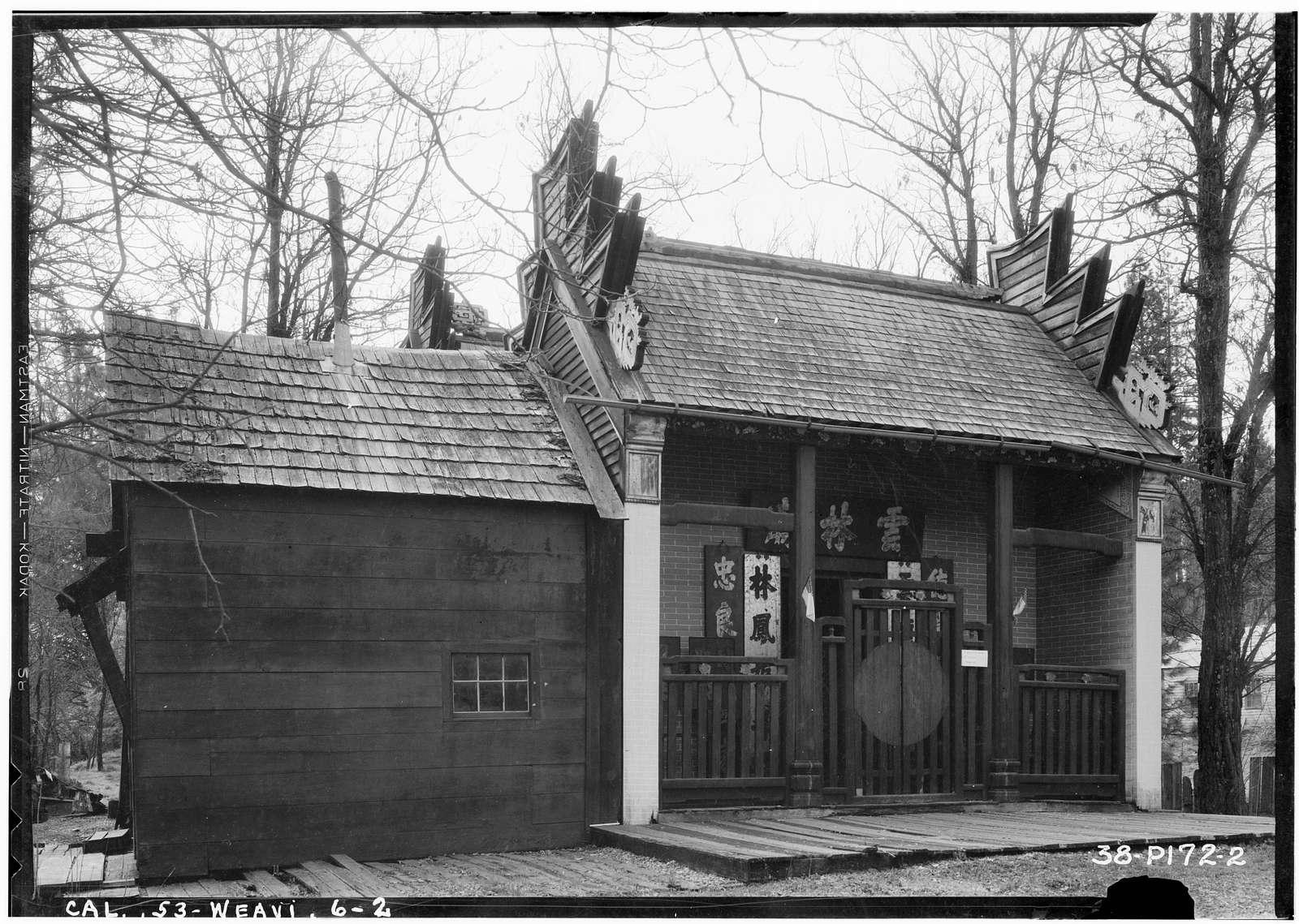 Weaverville Joss House, Oregon Street, Weaverville, Trinity County, CA