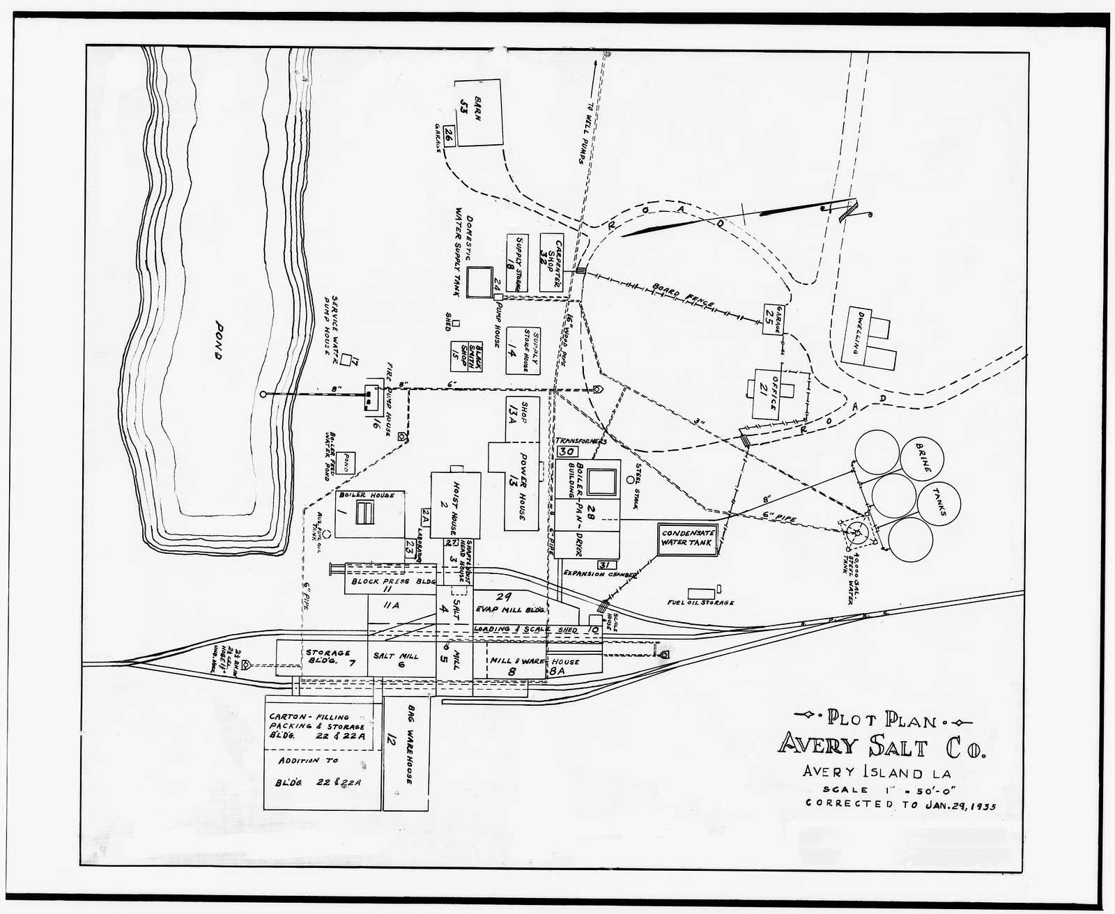 Avery Island Salt Works, Akzo Salt Incorporated, Avery Island, Iberia Parish, LA