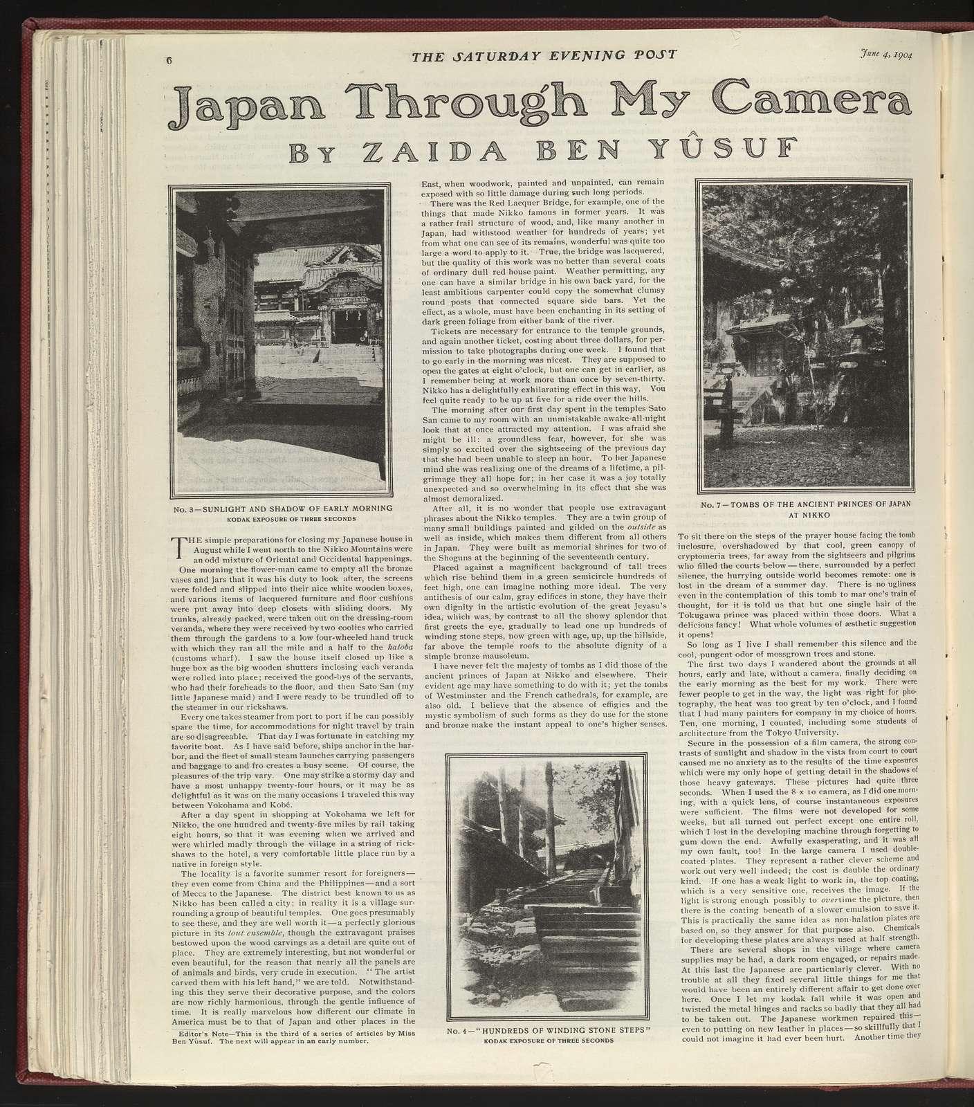 Japan through my camera / By Zaida Ben-Yûsuf.