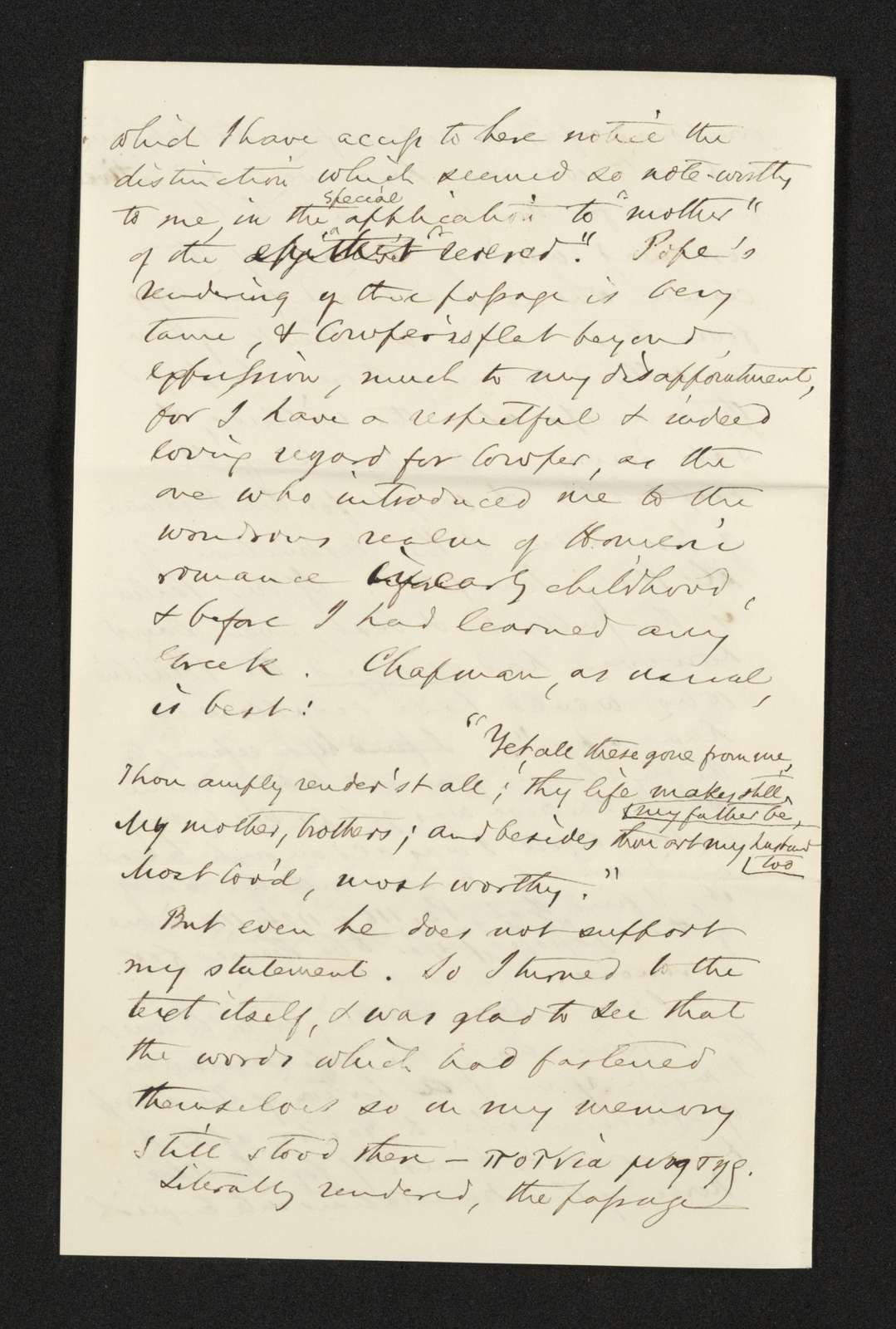 Lewis H. Machen Family Papers: Machen-Gresham Correspondence, 1871-1889; Machen, Arthur W., to Gresham, Minnie; 1872, Aug.-1873, Jan.