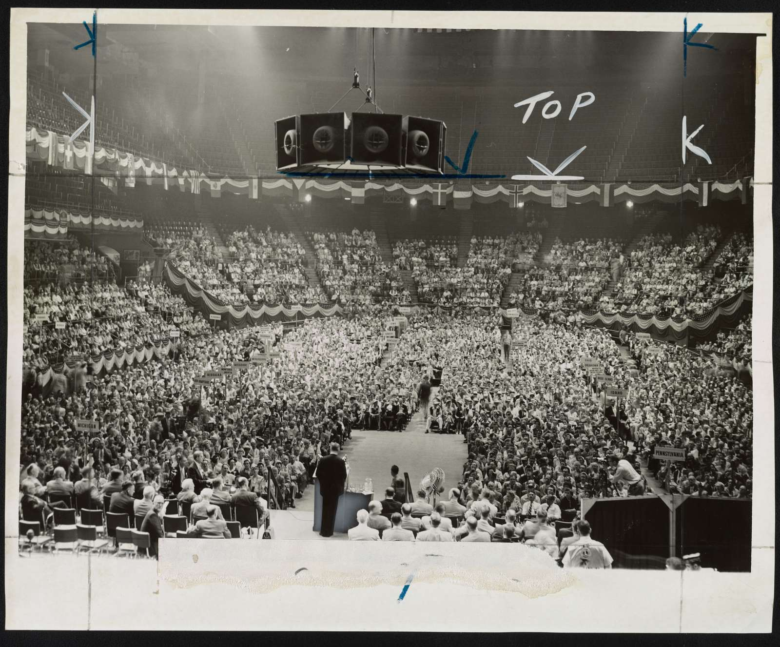 Madison Square Garden as Lions' convention opened today / World Telegram & Sun photo by Phil Stanziola.