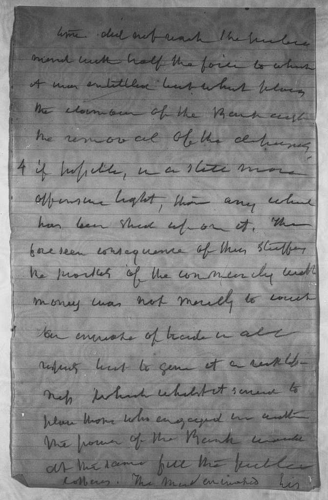 "Martin Van Buren Papers: Series 1, Autobiography, 1854-1862; Notes; ""History of the Bank""; Notes and memoranda re: Bank, miscellaneous historical memoranda"