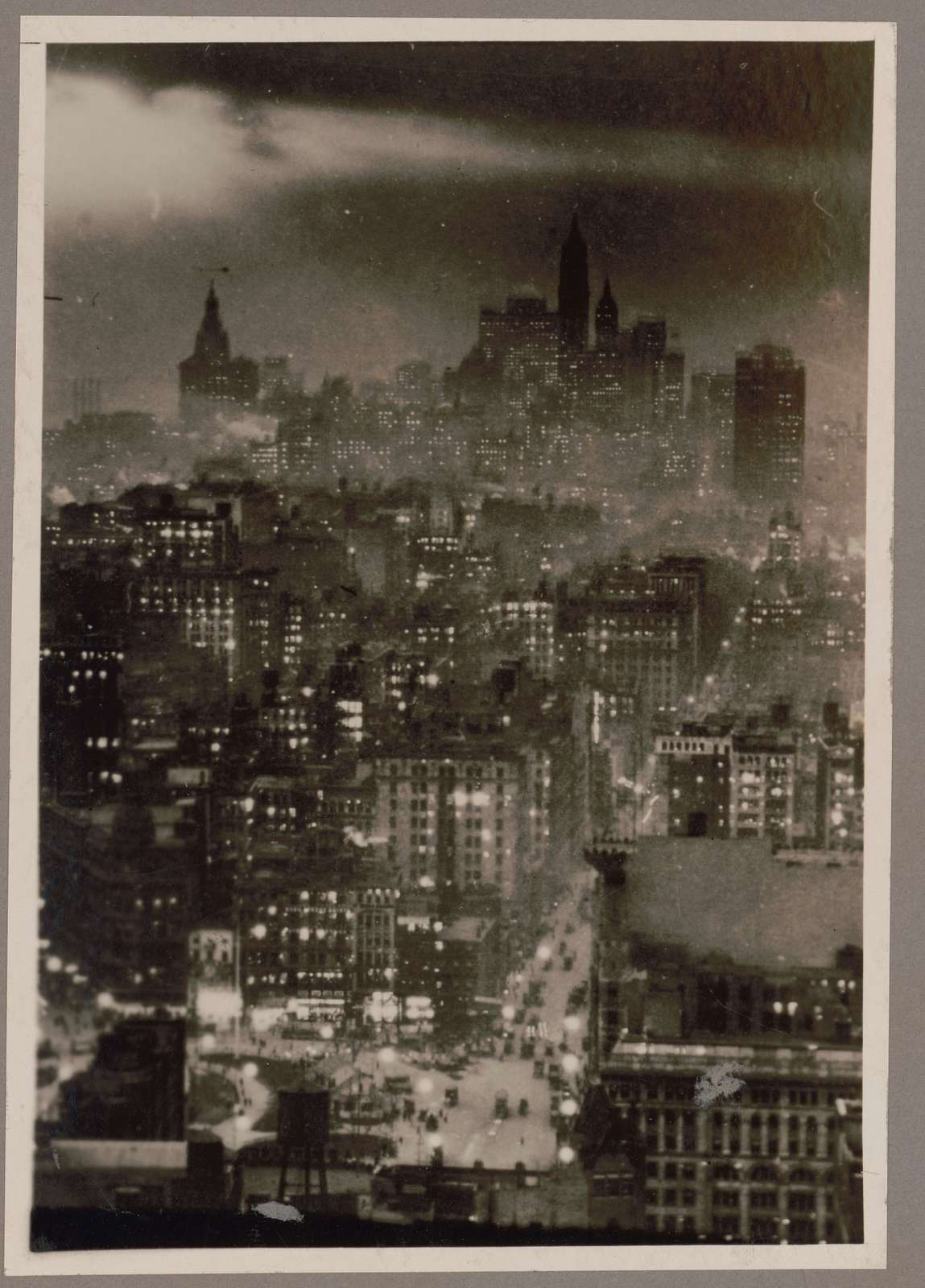 [Night view of lower New York City from the Metropolitan Tower]