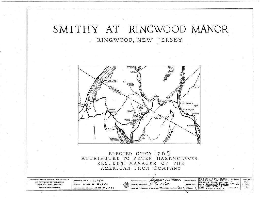 Ringwood Manor, Smithy, Ringwood, Passaic County, NJ