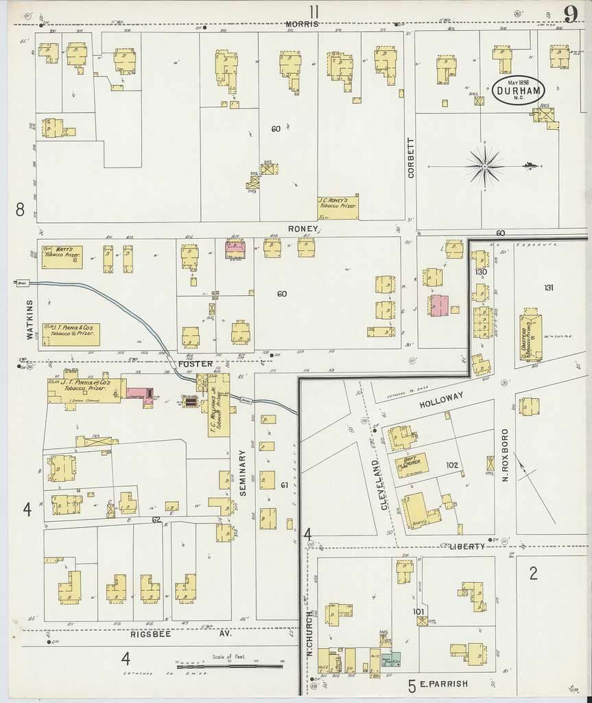 Sanborn Fire Insurance Map from Durham, Durham County, North Carolina.