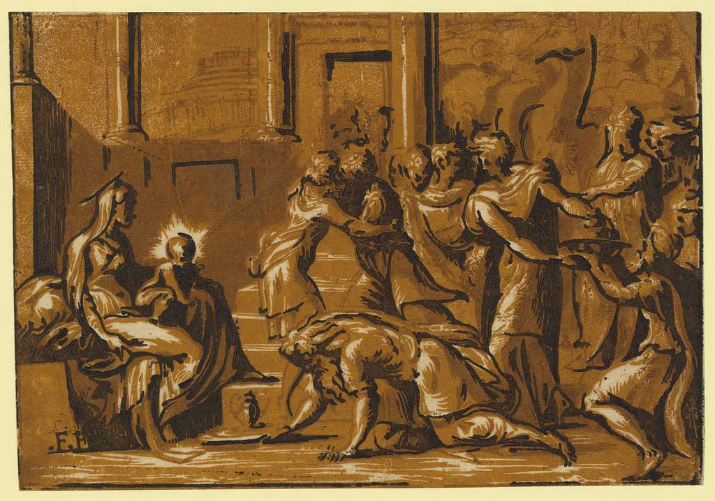 The adoration of the Magi / F.[...].