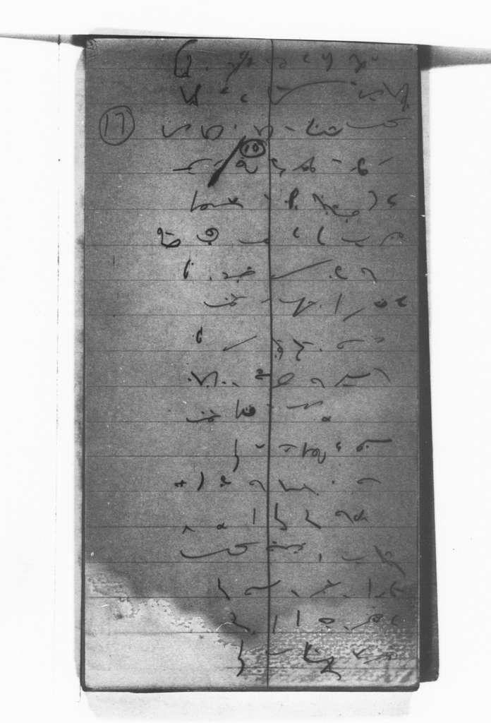 Theodore Roosevelt Papers: Series 12: Shorthand Notebooks; Vols. 17-24