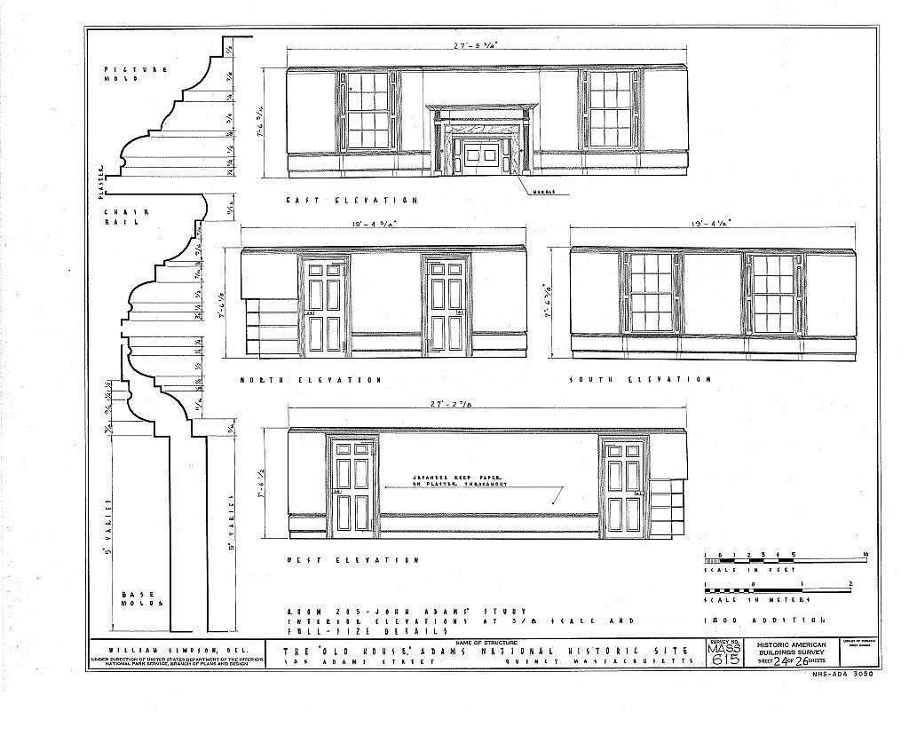 Adams Mansion, 135 Adams Street, Quincy, Norfolk County, MA