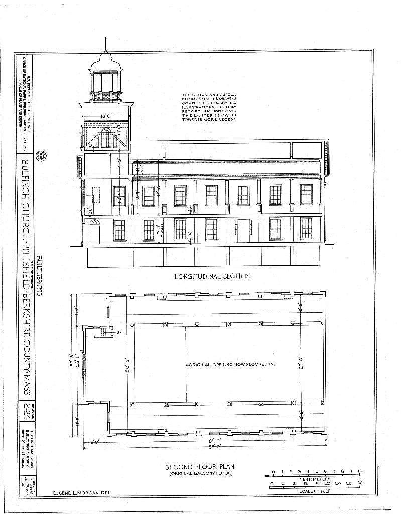 Bulfinch Church, North Street & Maplewood Avenue (moved from Park Row), Pittsfield, Berkshire County, MA