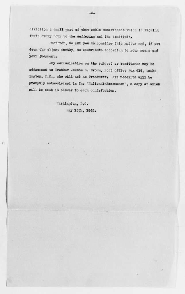 Clara Barton Papers: Subject File, 1861-1952; Civil War; Office of Correspondence with the Friends of the Missing Men of the U.S. Army; Reimbursement for expenditures, 1865-1869, undated
