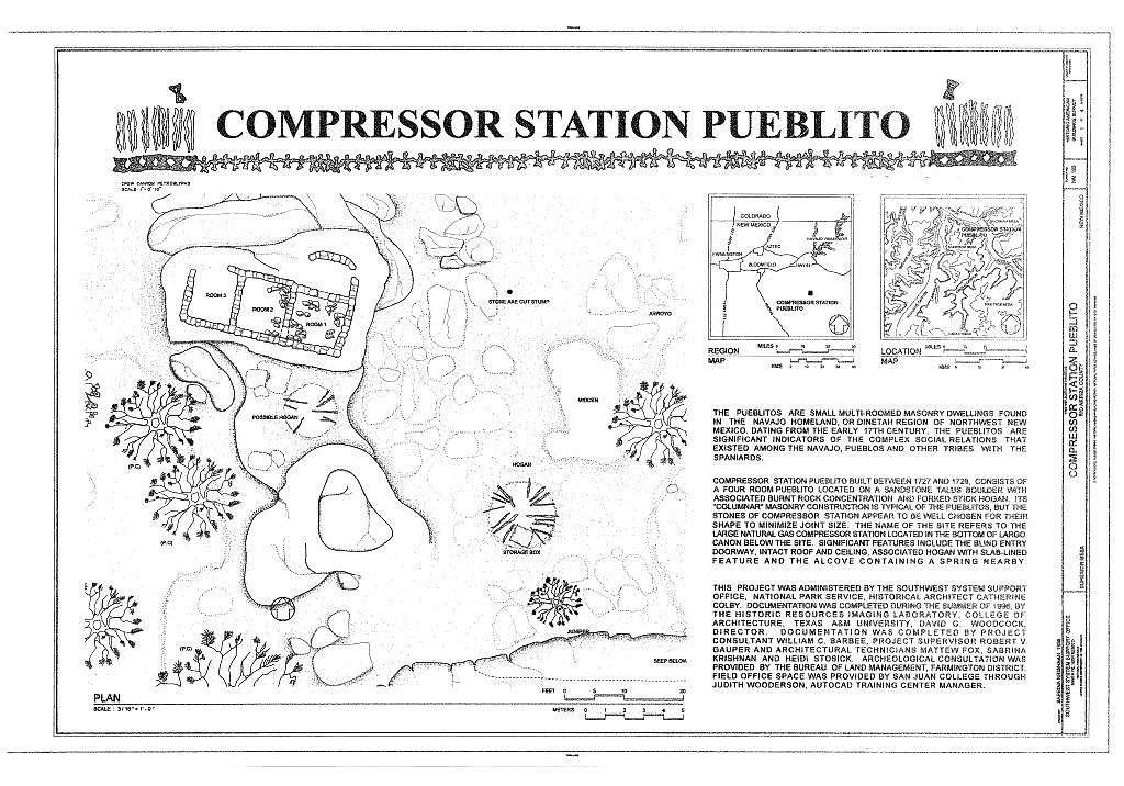 Compressor Station Pueblito, Superior Mesa, Dulce, Rio Arriba County, NM