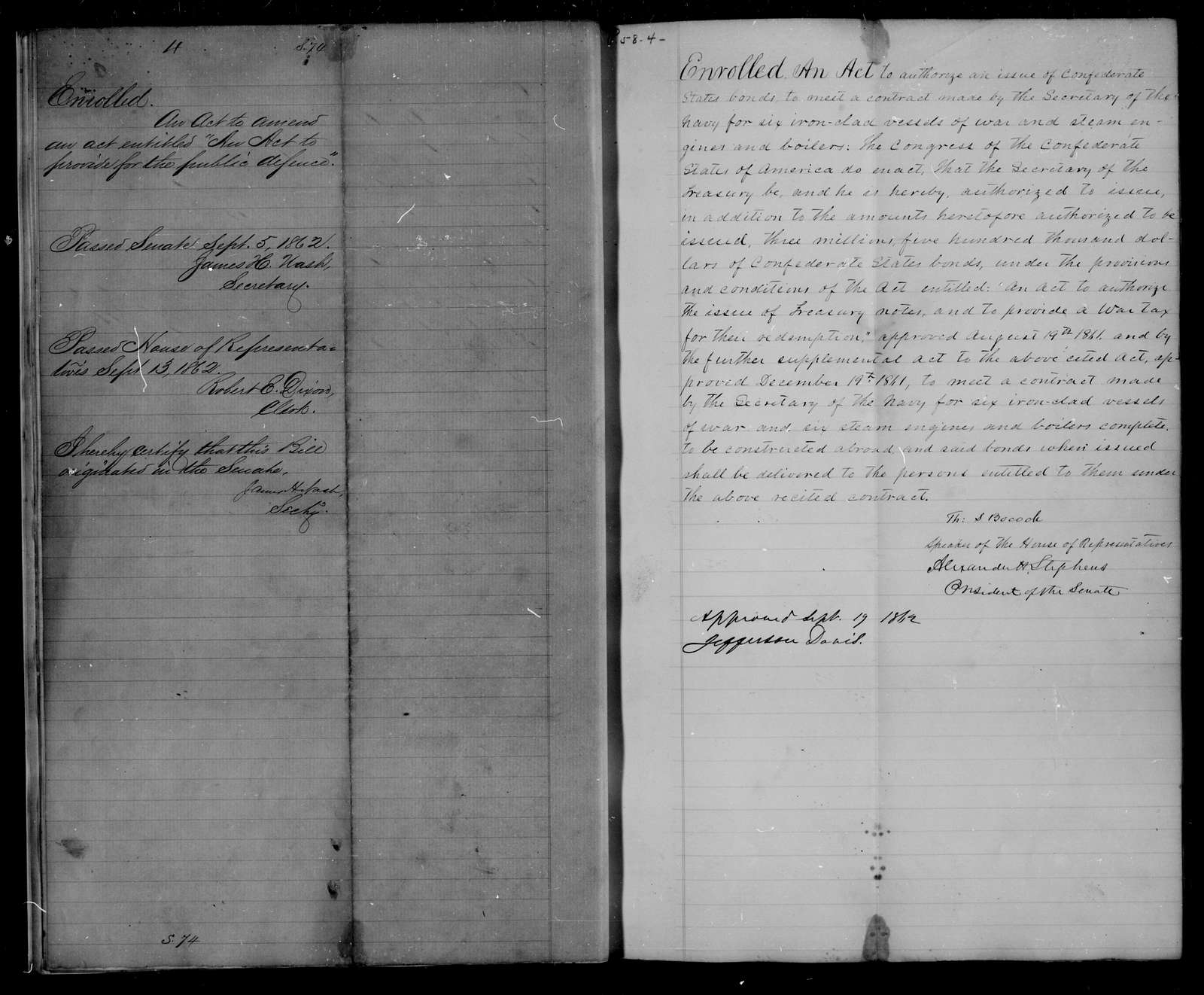 Confederate States of America records: Microfilm Reel 36