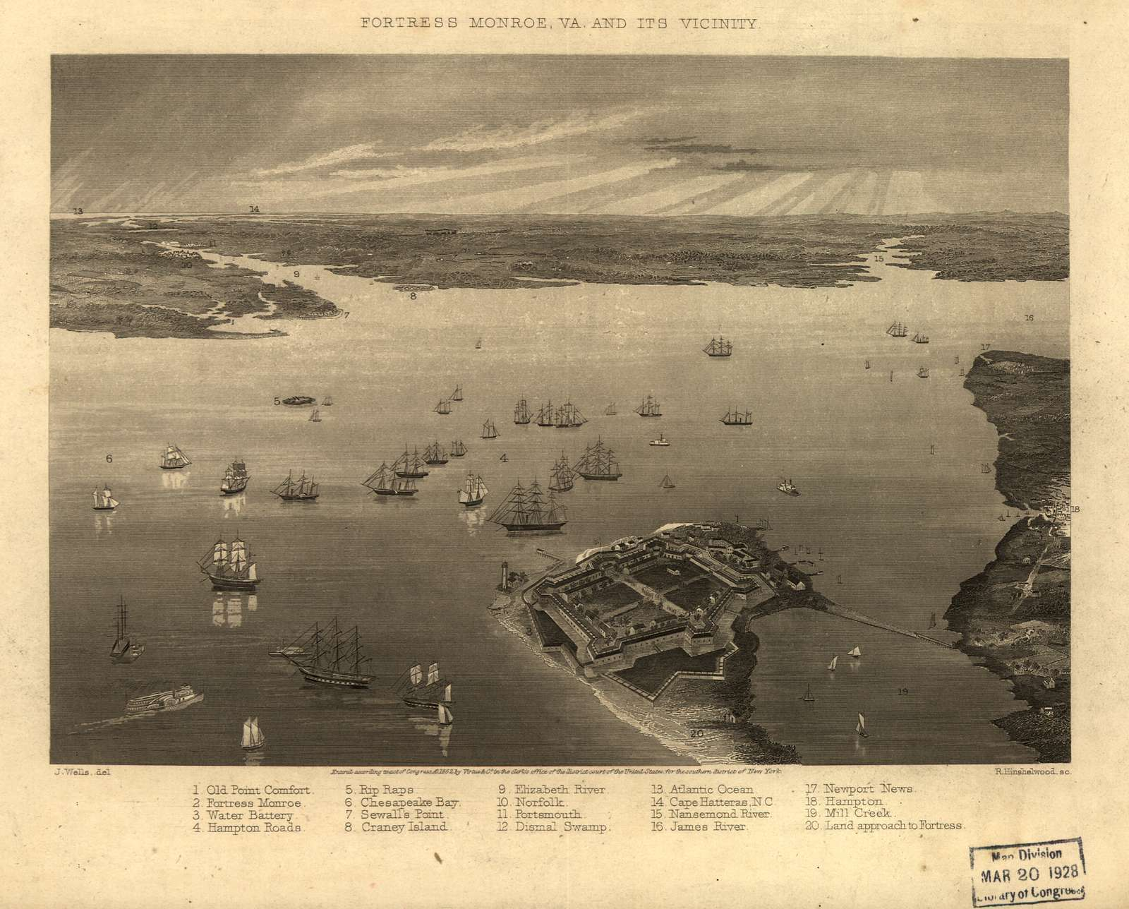 Fortress Monroe, Va. and its vicinity