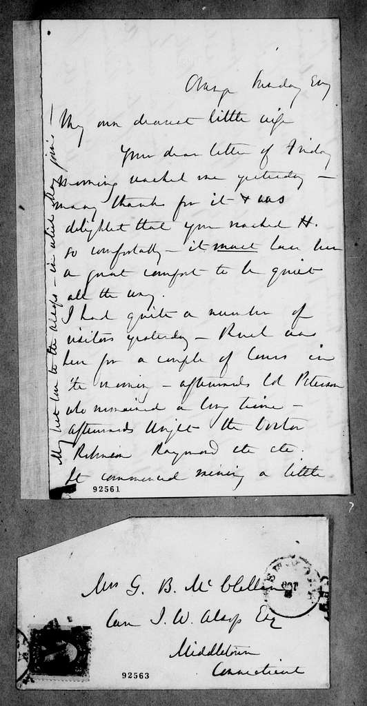 George Brinton McClellan Papers: Correspondence II, 1823-1898; Undated