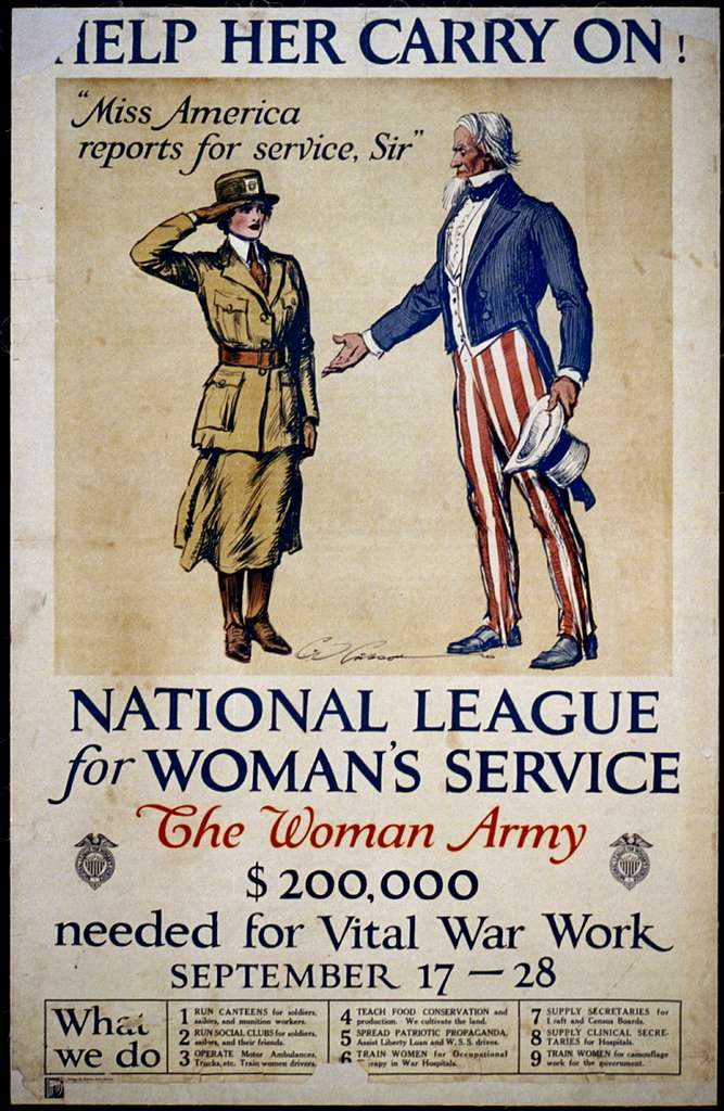Help her carry on! National League for Woman's Service ...
