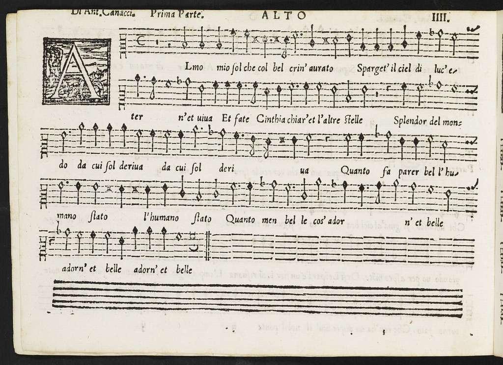 Il  primo libro delli madrigali a cinqve voci