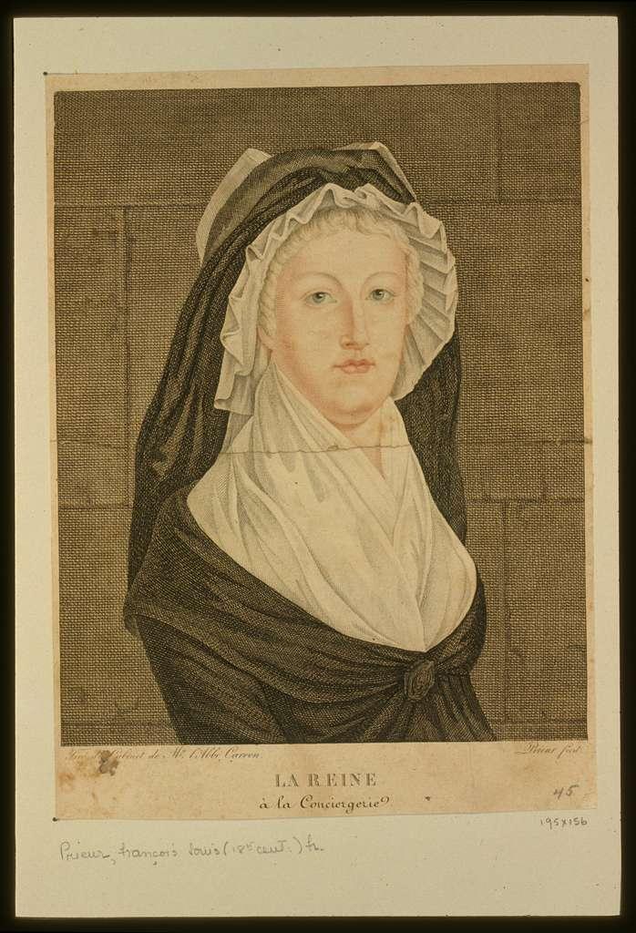 La reine à la conciergerie / Tiré du Cabinet de Mr. l'Abbé Carron ; Prieur fecit.