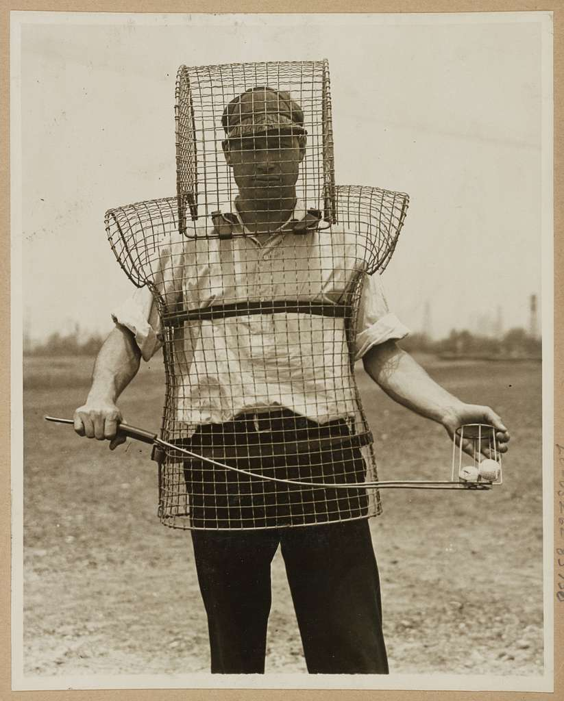 Mouse-trap armor for caddies - here is the newest safety device seen on California links