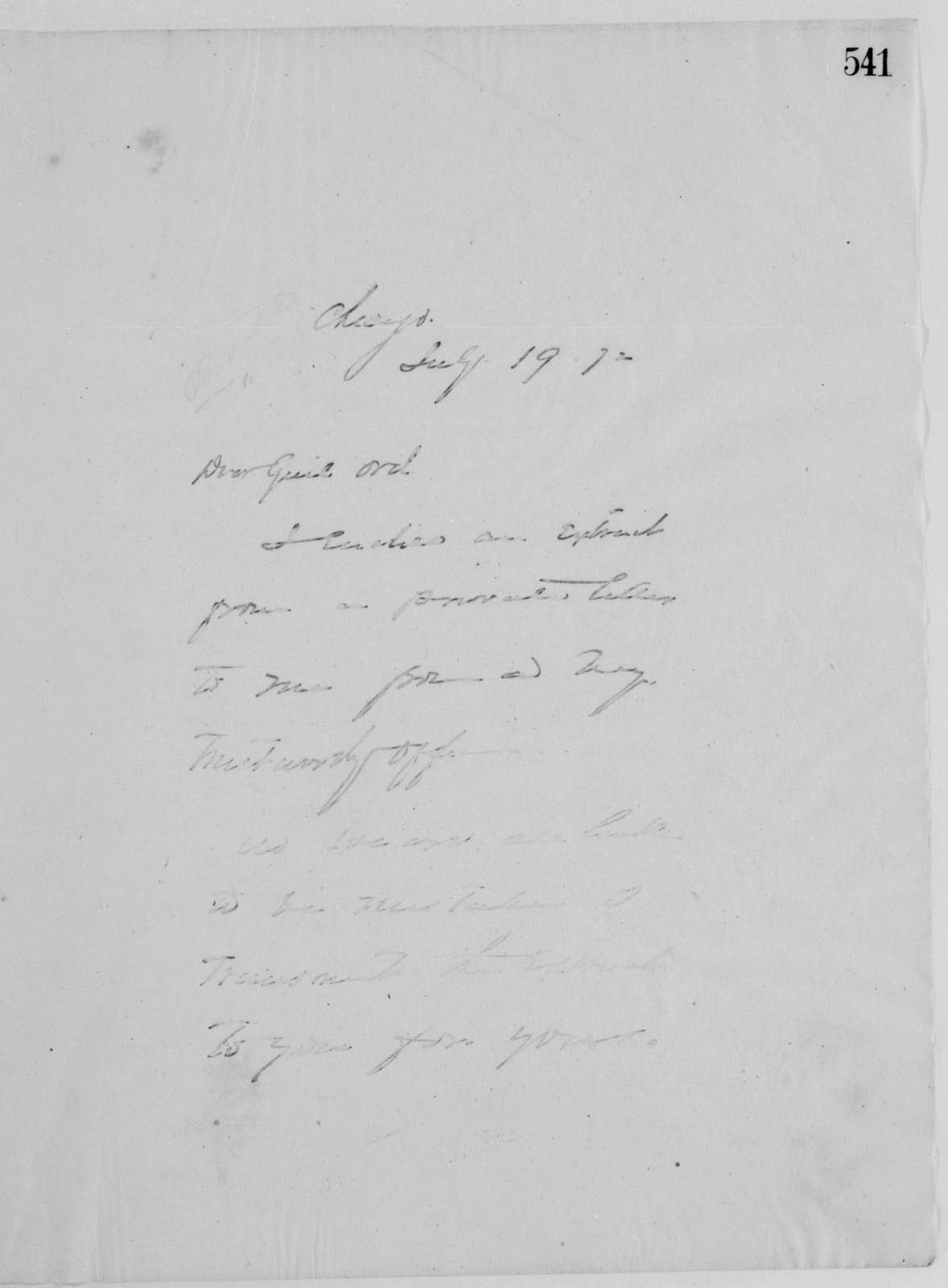 Philip Henry Sheridan Papers: Letterbooks, 1871-1888; General correspondence; 1871, Oct. 21-1872, Dec. 31 (includes correspondence dated 1874 and 1876)