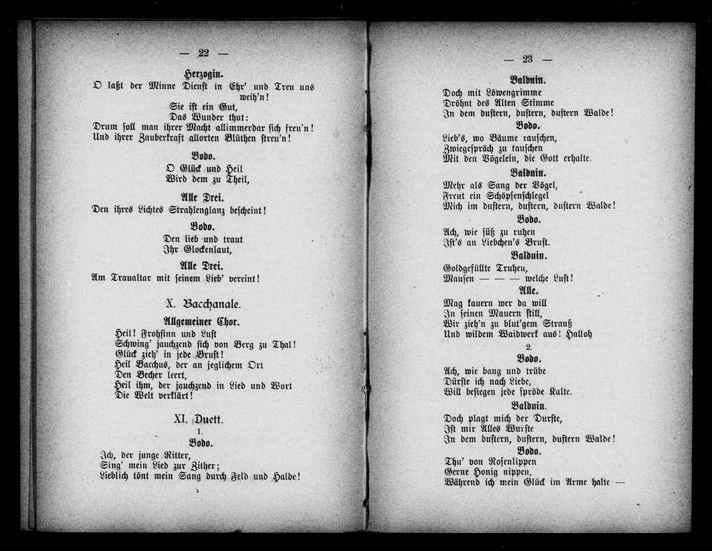 Schelm von Bergen. Libretto. German