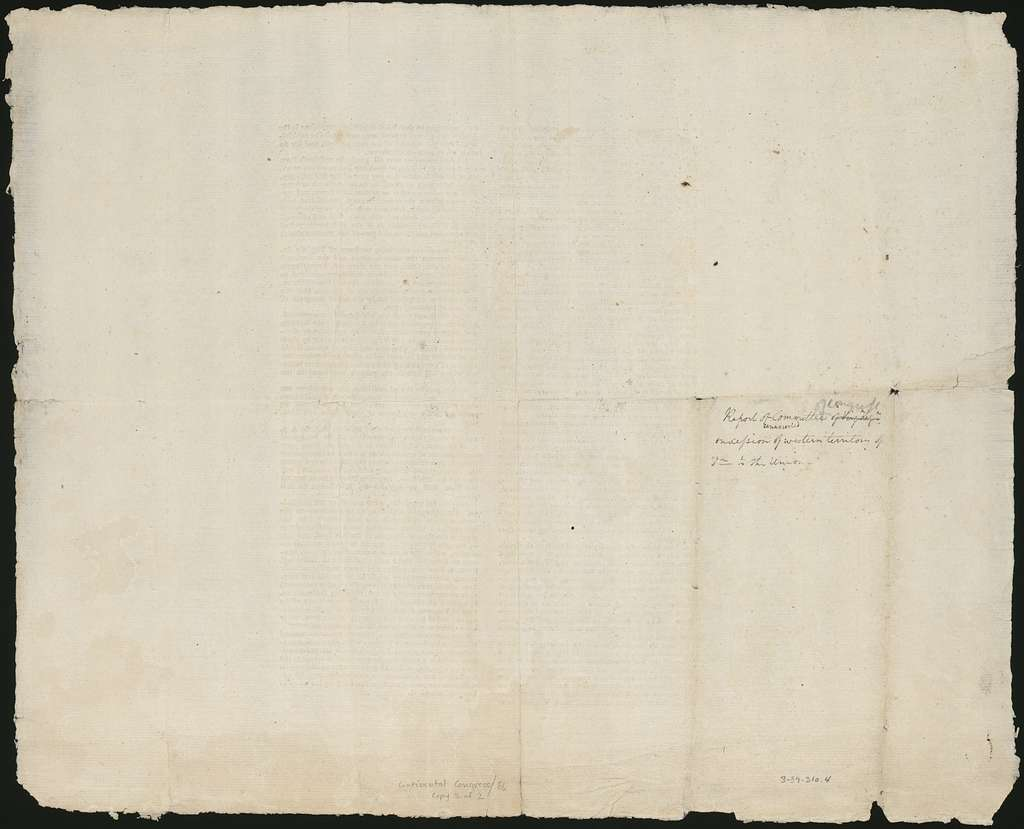 The committee, to whom were referred the act of the legislature of Virginia, of the 2d of January, 1781, and the report thereon, report ...