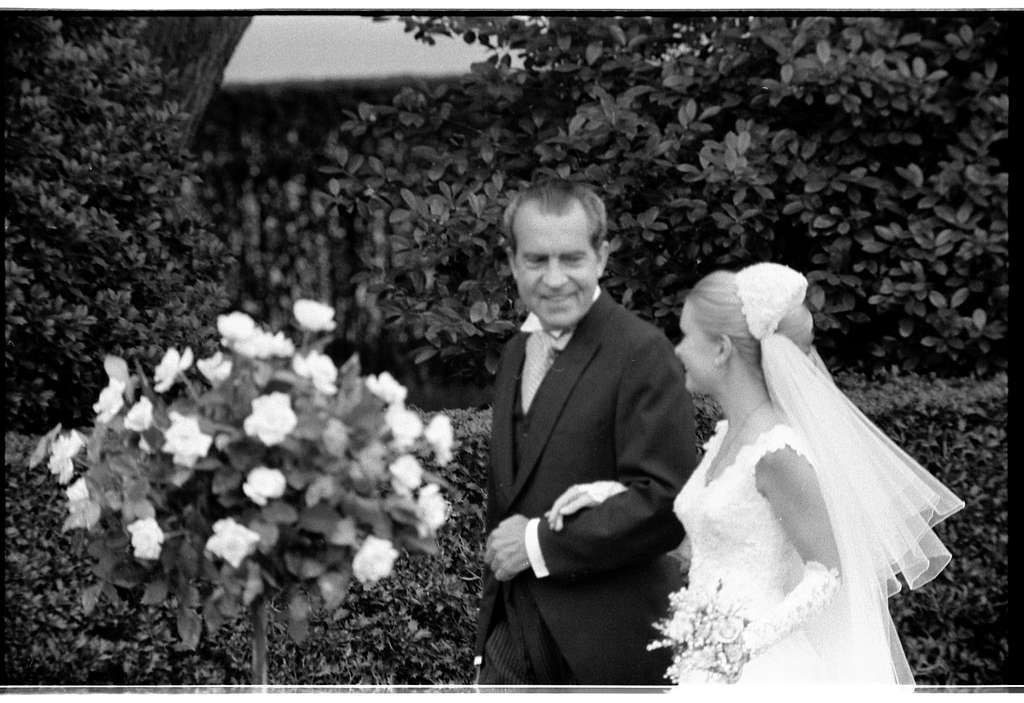 White House wedding. Pres. Nixon with Tricia / [WKL].