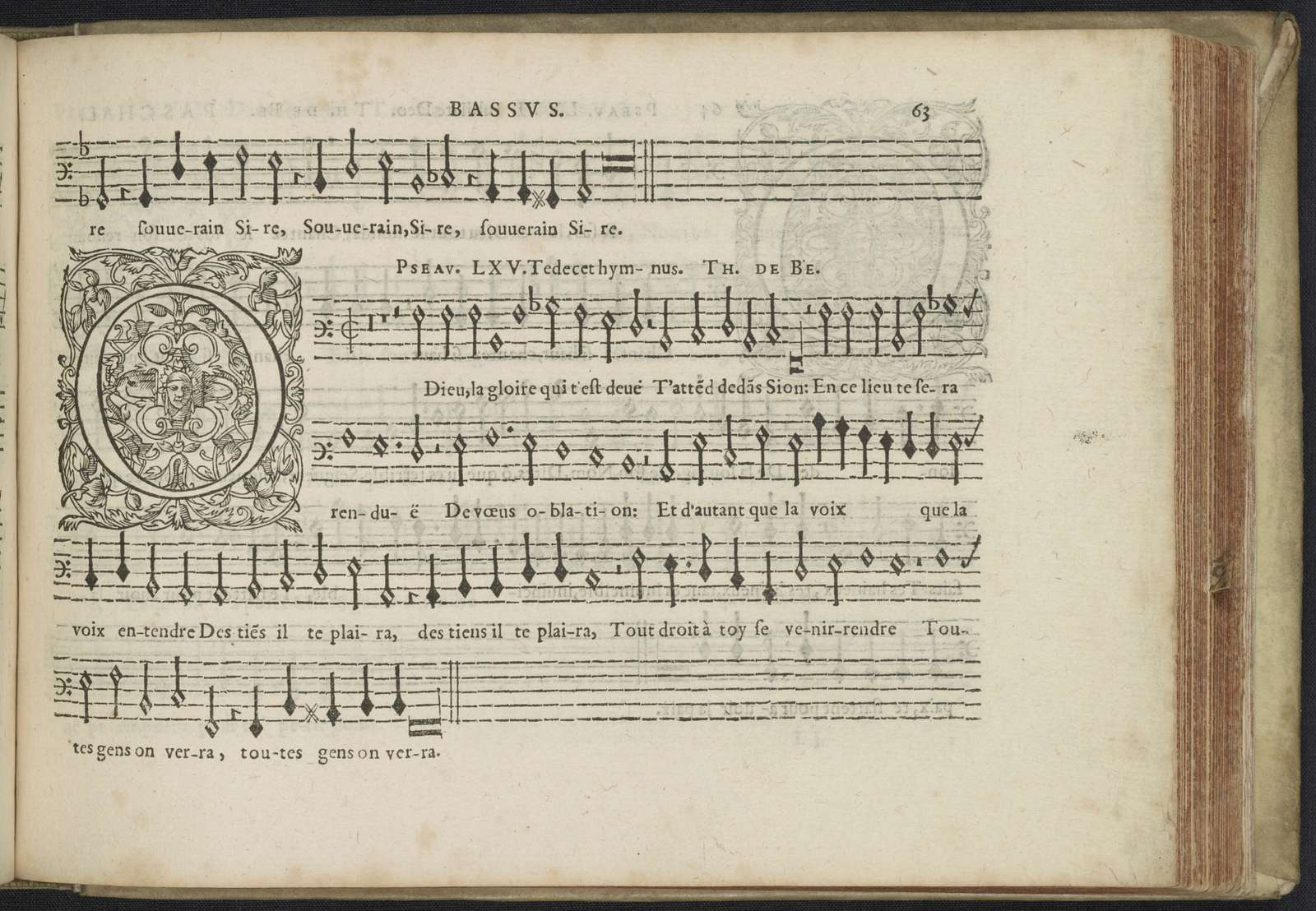 Bassus [Pseaumes de David and sacred part songs from Claude Le Jeune, Jan Peiterszoon Sweelinck, Paschal de L'Estocart, Orlando di Lasso, Jan Tollius in the 16th and the early17th century]