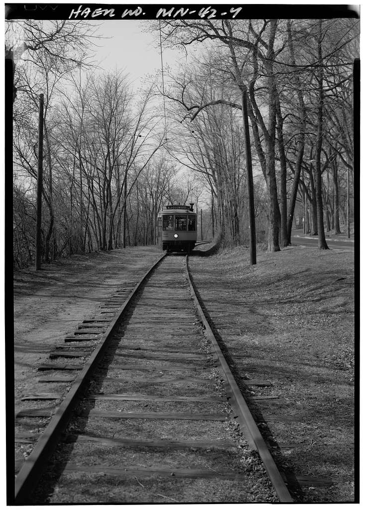 Como-Harriet Streetcar Line & Trolley Car No. 265, Forty-second Street West at Queen Avenue, Minneapolis, Hennepin County, MN