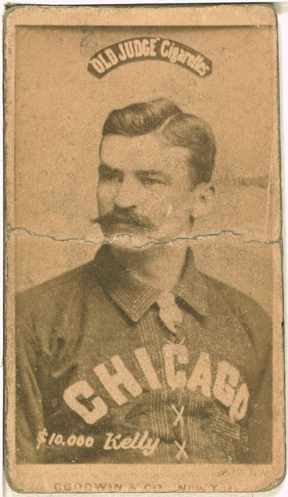 [King Kelly, Chicago White Stockings, baseball card portrait]