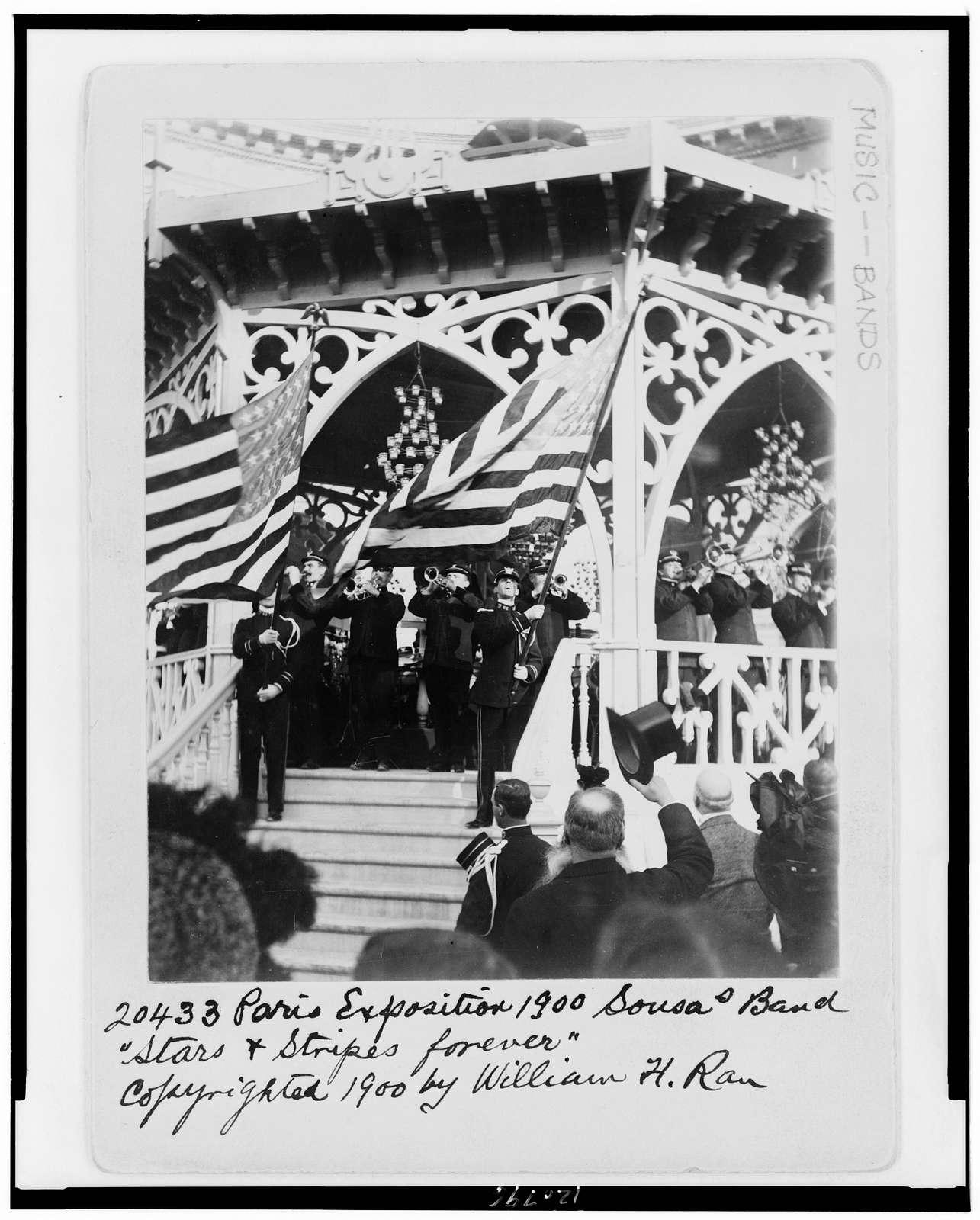 "Paris Exposition 1900--Sousa's band--""Stars & Stripes forever"""