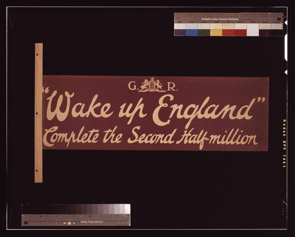 """""""Wake up England"""" Complete the second half-million"""