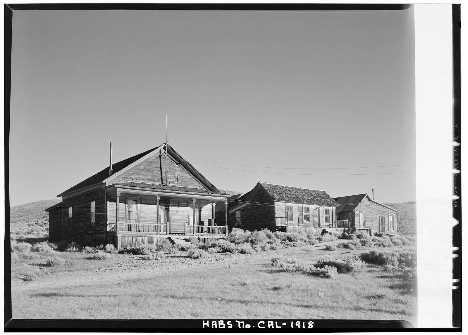 Bodie, General View, Bodie State Historic Park, Bodie, Mono County, CA