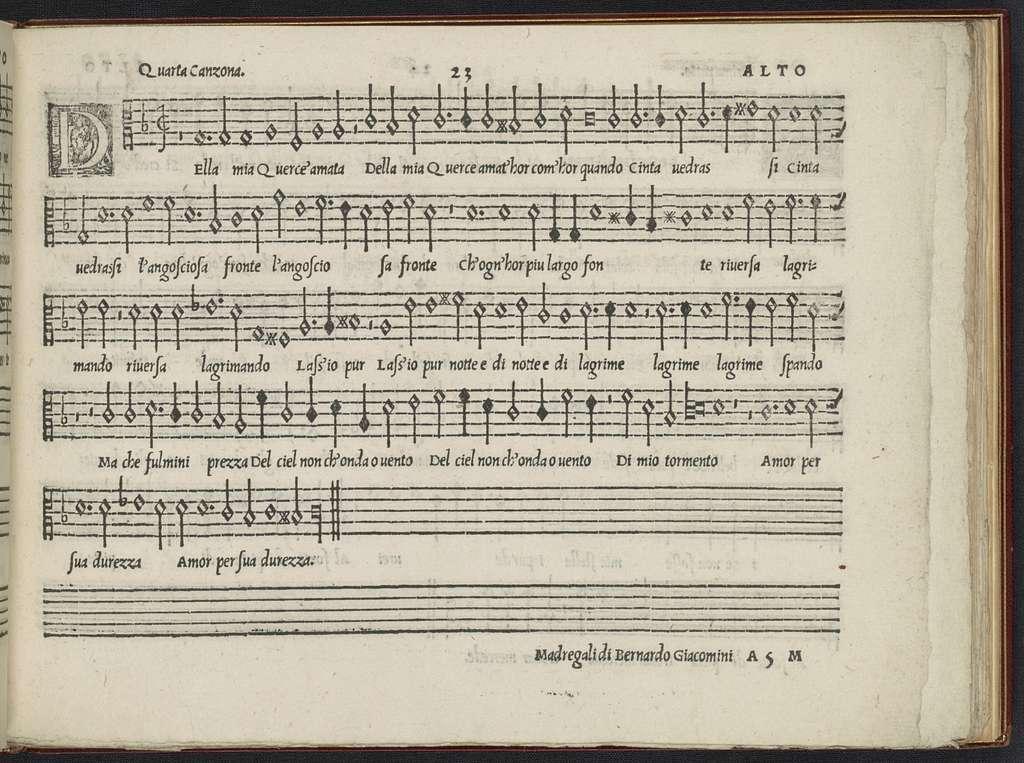 Il  primo libro di madrigali a cinque voci