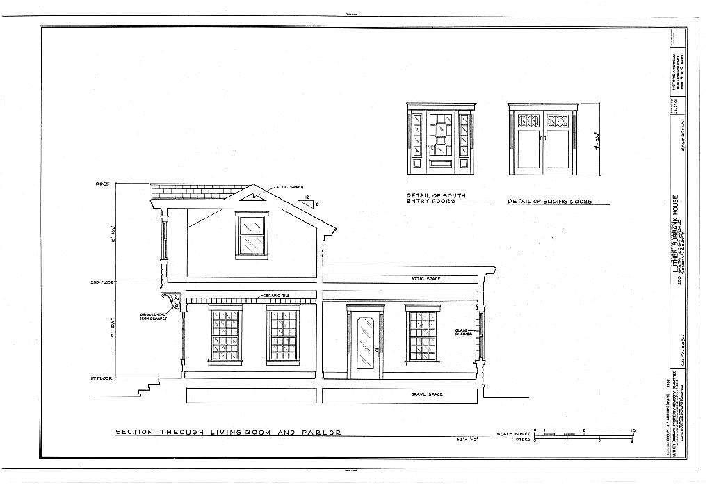 Luther Burbank House, 200 Santa Rosa Avenue, Santa Rosa, Sonoma County, CA