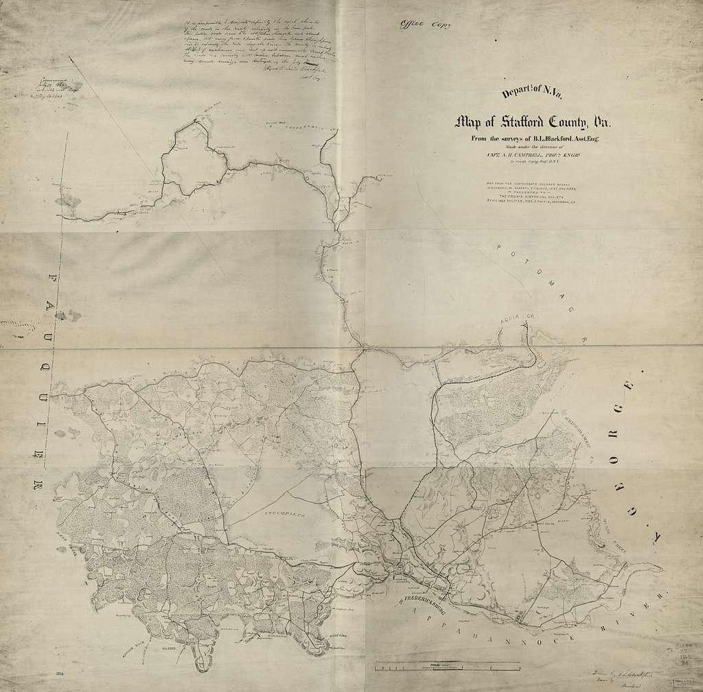 Map of Stafford County, Va /