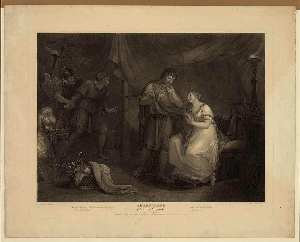 Shakespeare - Troilus & Cressida, act v, scene ii / painted by Angelica Kaufmann ; engraved by L. Schiavonelli.