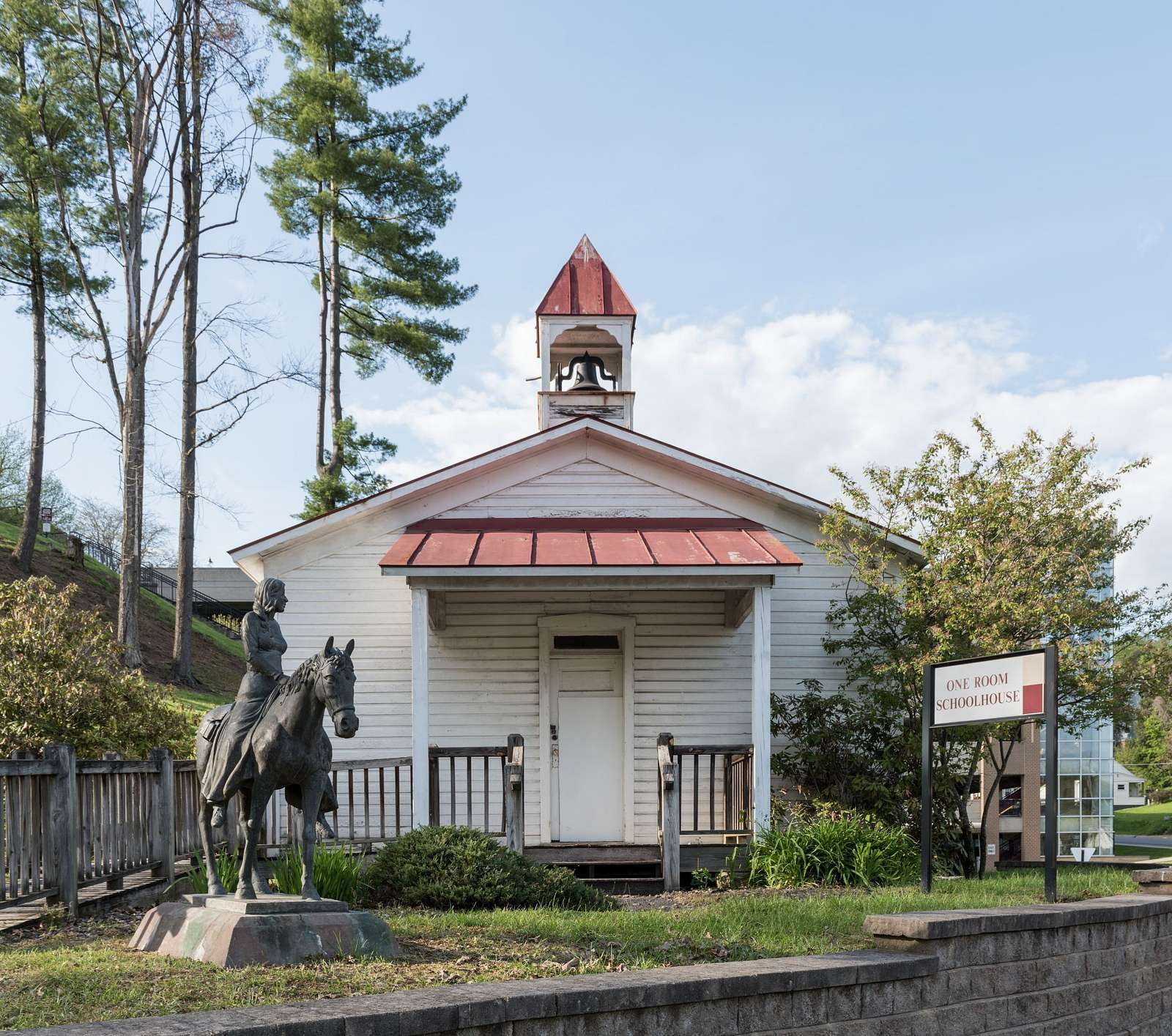The Snodgrass One-Room Schoolhouse on the campus of Fairmont State University in Fairmont, West Virginia