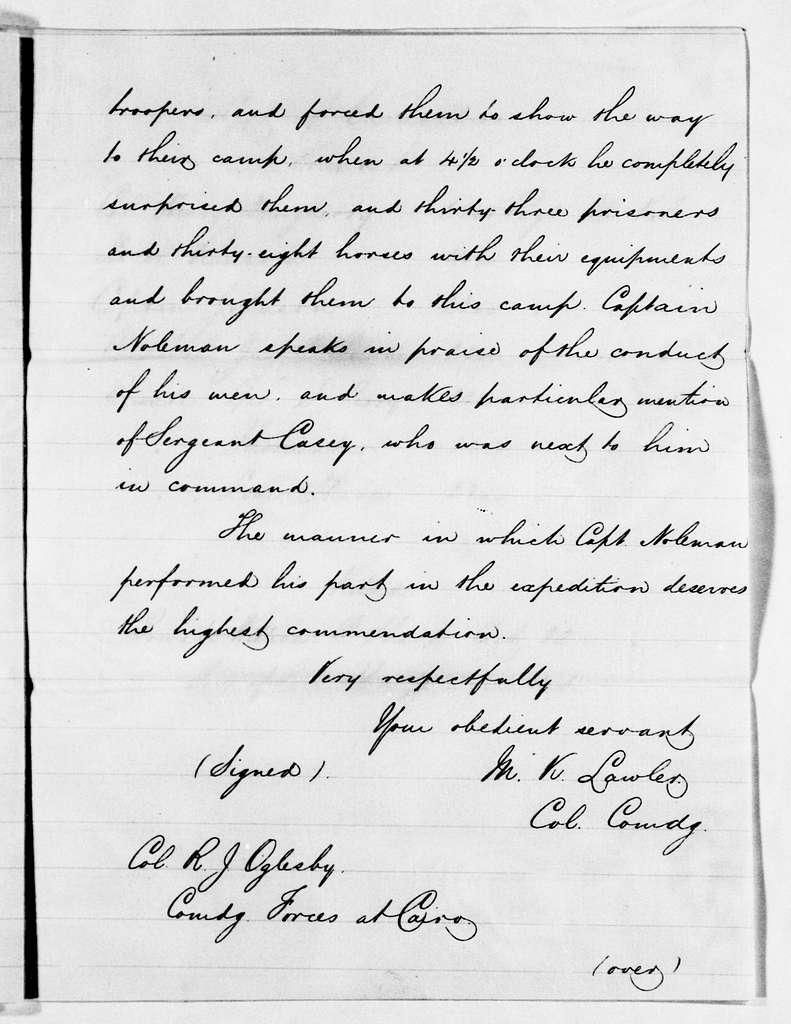 Ulysses S. Grant Papers: Series 6, Miscellany, 1839-1867; Subseries A, 1861-1867; Military records partly duplicated in Series 5